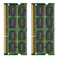 PNY Memory DDR3 Notebook 16GB 2x8 10666 1333mhz SODIMM front. Click image for more details.