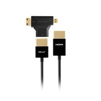 3-in-1 PNY HDMI Cable top. Click image for product detail.