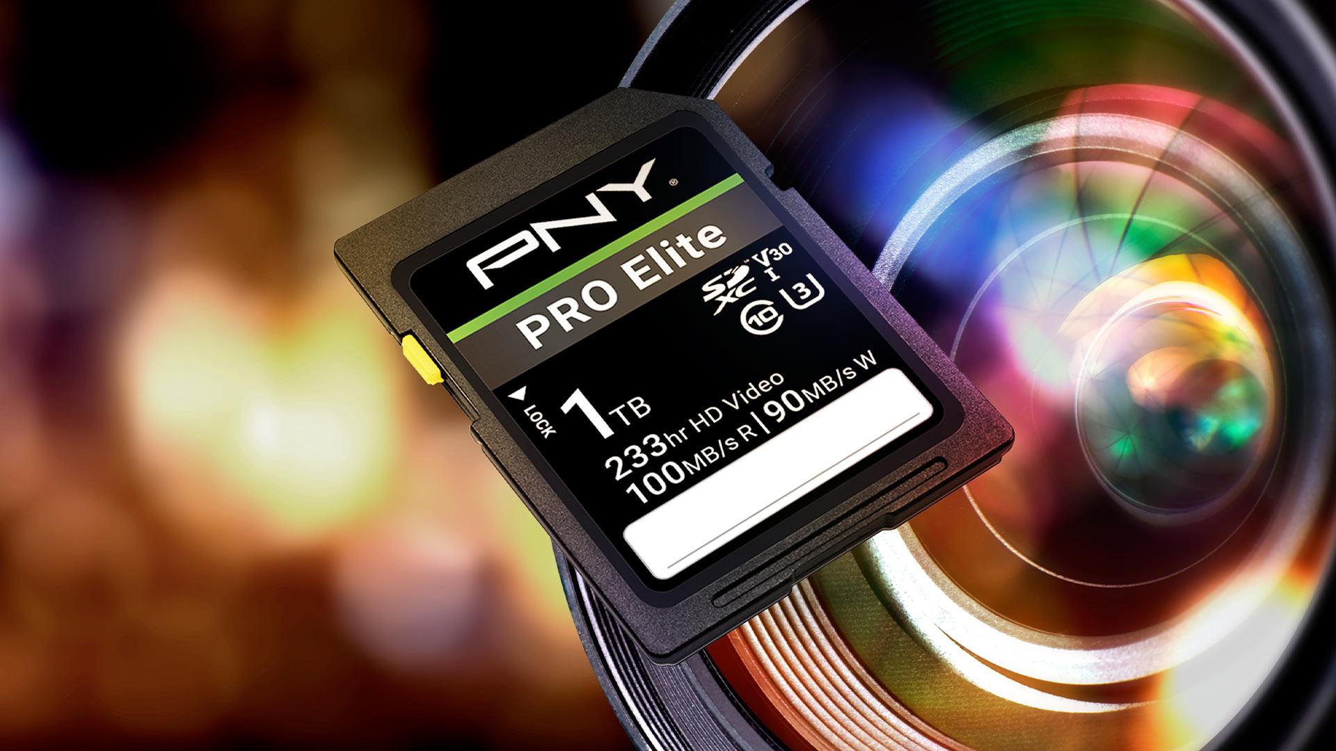 1TB PRO Elite Class 10 U3 V30 SDXC Flash Memory Card