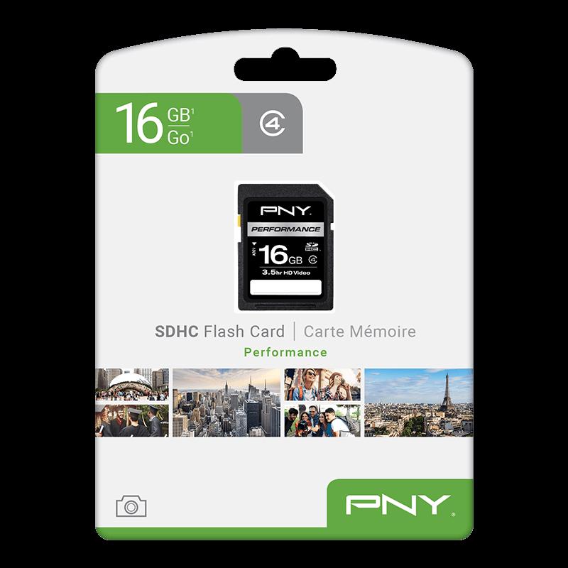 PNY 16GB Performance Class 4 microSD Flash Memory Card 5-Pack P-SDU16G4X5-MP